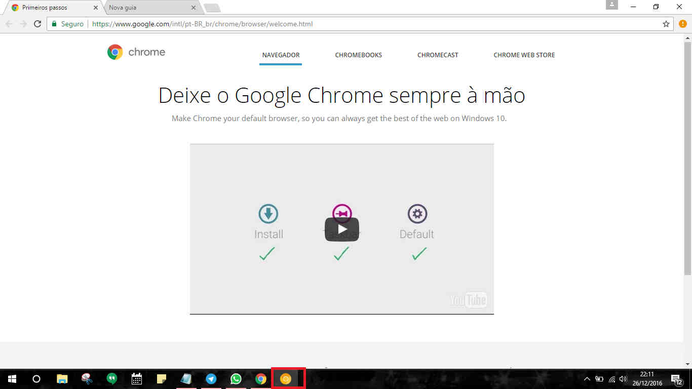 Como baixar Google Chrome Canary final