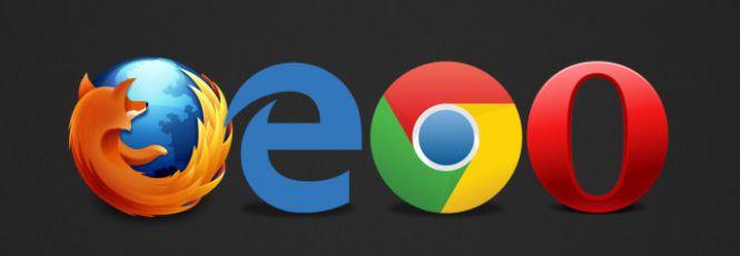 Imagem dos logotivos dos principais navegadores usados